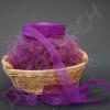Лента из органзы фиолетовая