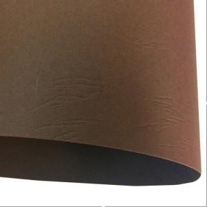 Дизайнерский картон Tourbe коллекция коричневая кожа