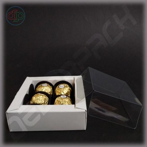Коробка 110(80)*110(80)*35 мм с петелькой для крепления на бутылку