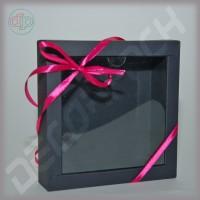 Коробка 150(120)*150(120)*35 мм, дизайнерский картон