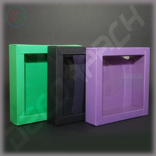 Коробка 150(120)*150(120)*35 мм с прозрачной крышкой