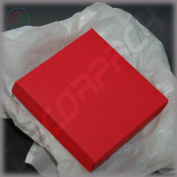 Коробка 90(70)*90(70)*25 мм с глухой крышкой, дизайнерский картон