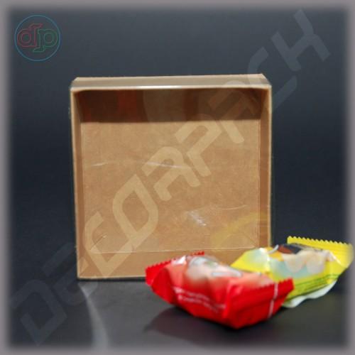 Коробка 100*100*40 мм с прозрачной крышкой