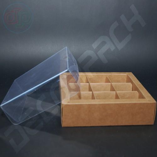 Коробка 180(150)*180(150)*50 мм с прозрачной крышкой