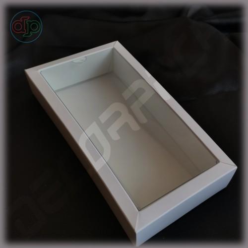 Коробка 180(160)*100(80)*25 мм с внутренней пластиковой крышкой
