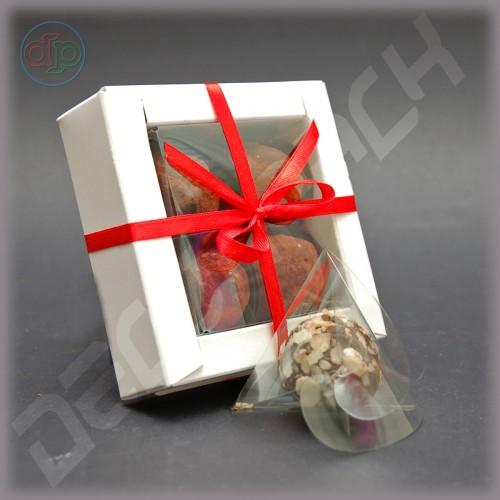 Коробка 110(80)*110(80)*35 мм для 4 конфет