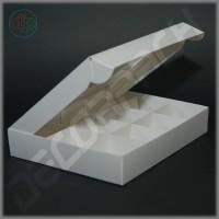 Коробка для конфет (c прямоугольным окном, белая) 200*160*35 мм