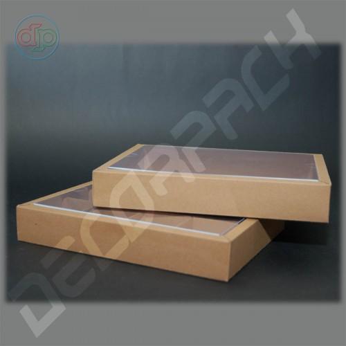 Коробка 230(200)*180(150)*35 мм с прозрачной крышкой