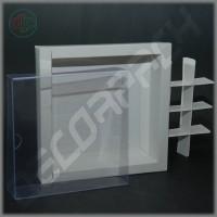 Коробка  белая 190(160)*190(160)*35 мм с прозрачной крышкой, без разделителей