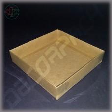 Коробка 100*100*30 мм с прозрачной крышкой