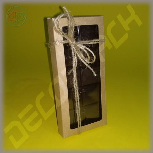 Коробка 156*72*16 мм  шоколадница c прорезной надписью