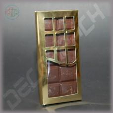 Коробка 156*76*16 мм  (шоколадница c фигурным окном, дизайнерский картон)