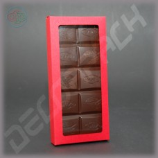 Коробка 156*76*16 мм  (шоколадница c окном, дизайнерский картон)