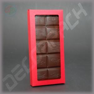 Коробка 156*72*16 мм  (шоколадница c окном, дизайнерский картон)