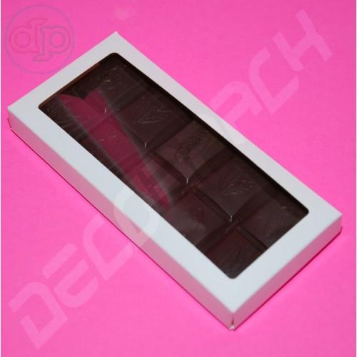 Коробка 156*72*16 мм  (шоколадница с окном, белый)