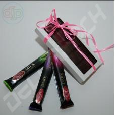 Коробка 156*76*16 мм  (шоколадница с окном, белый)