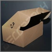 Коробка для 6 капкейков крафт 230*160*90 мм