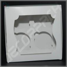 Коробка для капкейков на 4 шт. (c окном) 160*160*90 мм