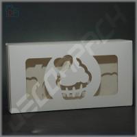 Коробка для капкейков на 8 шт. 300*160*90 мм (c окном капкейк)
