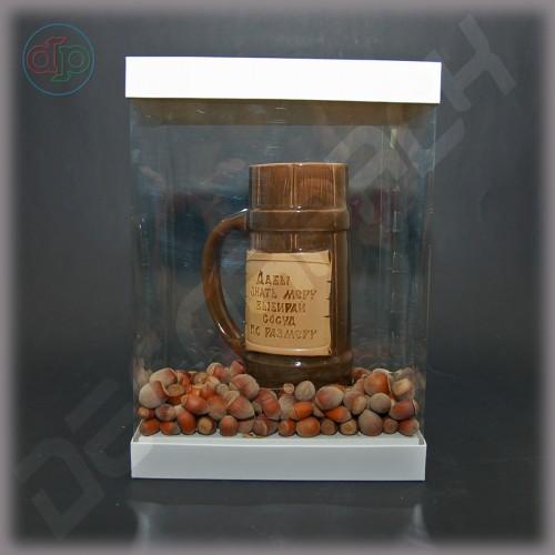 Коробка 190*130*260 мм  (с прозрачными стенками, аквариум)