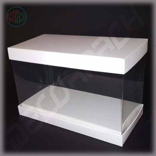Коробка-аквариум для упаковки подарков 200*100*100 мм
