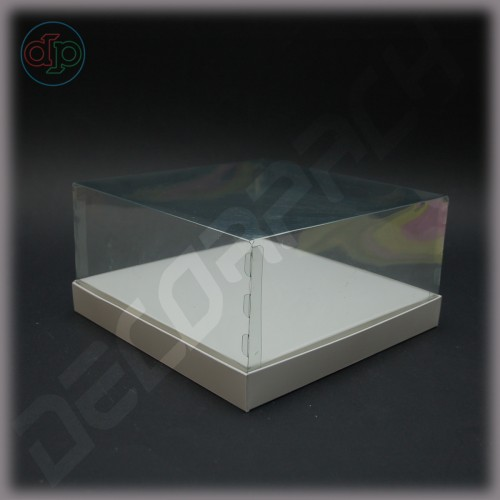 Коробка 200*200*100 мм  (с прозрачным куполом)