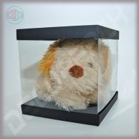 Коробка-аквариум для упаковки подарков 200*200*200 мм черная