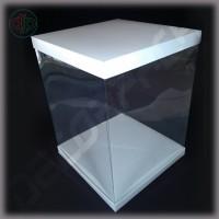 Коробка-аквариум для упаковки подарков 250*250*300 мм