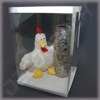 Коробка-аквариум для упаковки подарков 300*300*480 мм