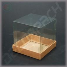 Коробка 100*100*100 мм с прозрачной крышкой