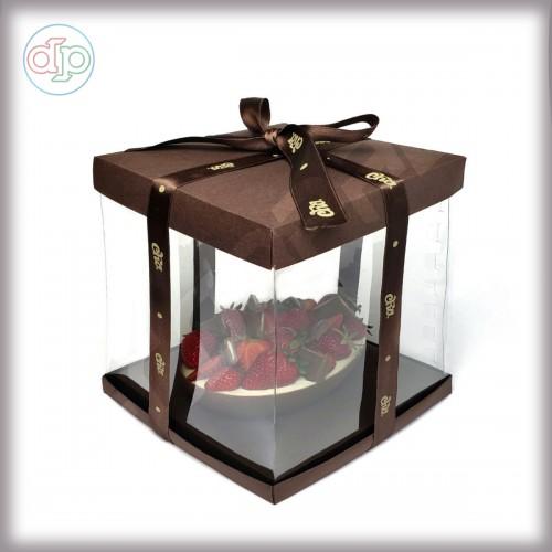 Коробка-аквариум для упаковки подарков 200*200*200 мм