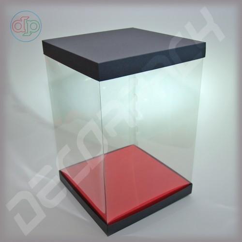 Коробка-аквариум для упаковки подарков 200*200*300 мм
