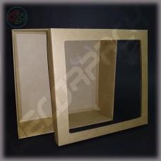 Коробка  300*300*80 мм  с окном