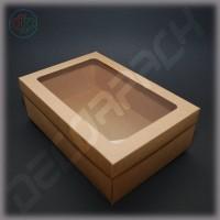 Коробка  300*200*100 мм  с окном (крафт)