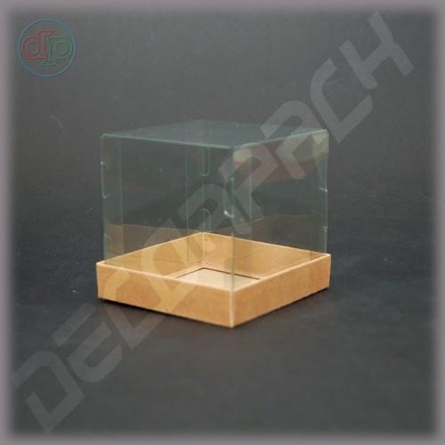Коробка 90*90*90 мм  (с прозрачной крышкой-купол)
