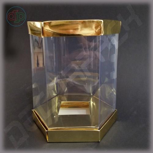 Коробка 160*210 мм  (с прозрачными стенками, шестигранник)