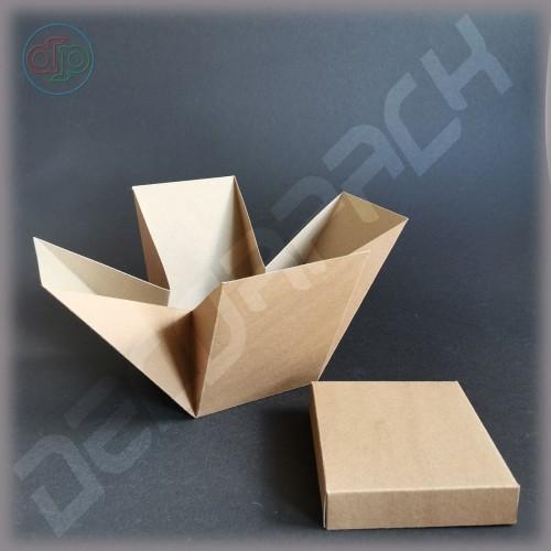 Коробка 100*100*150 мм (распускающаяся роза)