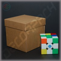 Коробка 100*100*100 мм (распускающаяся роза, крафт)