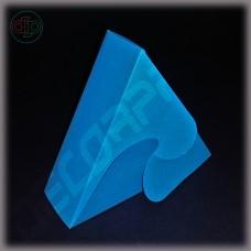 Бонбоньерка 100*86*35 мм  (треугольник, голубая)