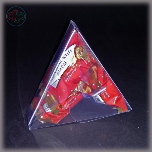 Бонбоньерка 100*86*35 мм  (треугольник, пластиковая)