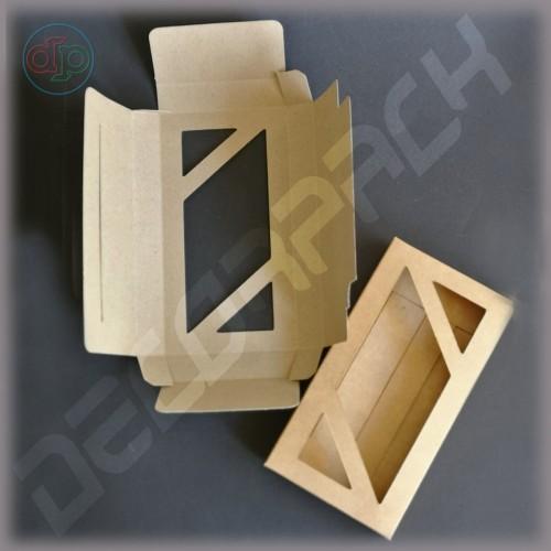 Коробка 170*90*20 мм  (шоколадница c окном - ромб)