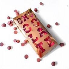 Коробка 156*76*16 мм  (шоколадница c прорезной надписью, крафт)