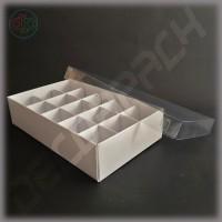 Коробка 240*140*55 мм  с наружной пластиковой крышкой и комплектом разделителей