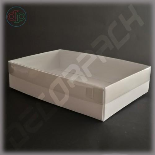 Коробка 280*150*50 мм  с наружной пластиковой крышкой