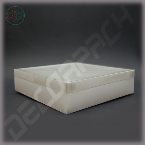 Коробка  300*300*80 мм  с наружной пластиковой крышкой