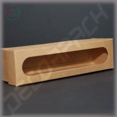 Коробка 200*50*50 мм  (c окошком, крафт)