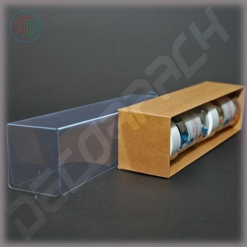 Коробка 200*50*50 мм  (прозрачная крышка, крафт)