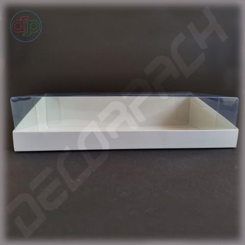 Коробка 200*150*50 мм  (трапеция, с прозрачной крышкой внутрь)