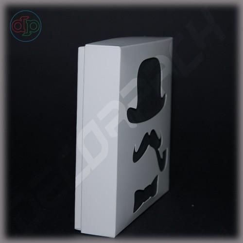 Коробка 150(120)*150(120)*35 мм (истинный джентльмен, черно-белый)