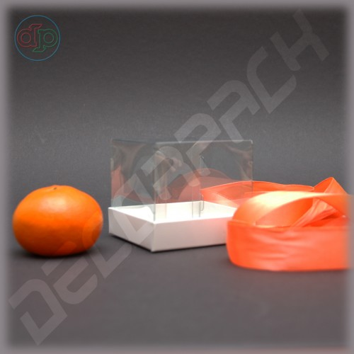 Коробка 80*80*70 мм с прозрачной крышкой